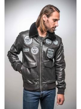 Mythic Venice - Blouson aviateur cuir homme