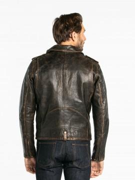Redford Buco - Blouson biker cuir vieilli