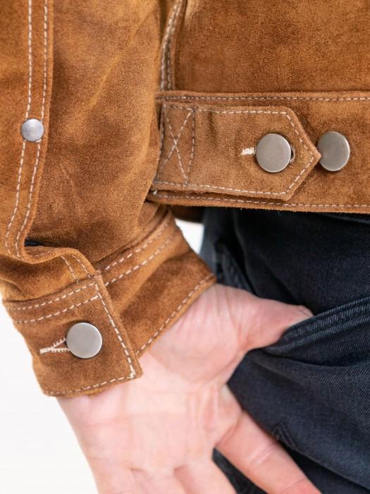 Trucker - Blouson cuir homme