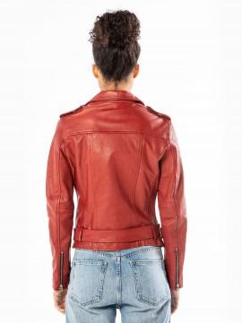 Poppyco - Blouson cuir femme