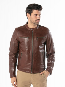 Iron - Blouson cuir homme