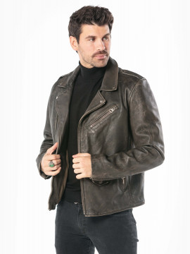 Coluche - Blouson cuir homme