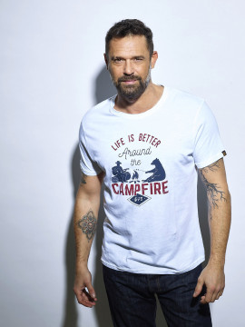 Campfire T-shirt Homme