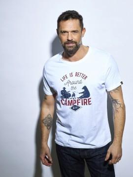 Campfire - T-shirt textile...