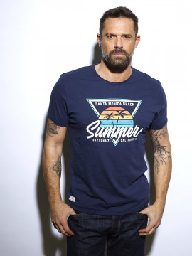 Sunset Summer T-shirt Homme