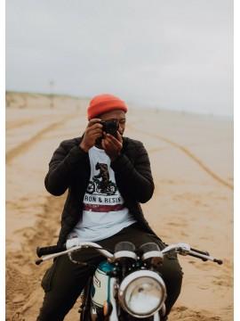 Moto bear - T-shirt homme...