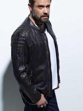 Biker - Blouson cuir homme