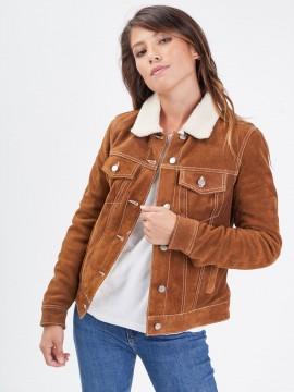 Trucky - Blouson cuir femme