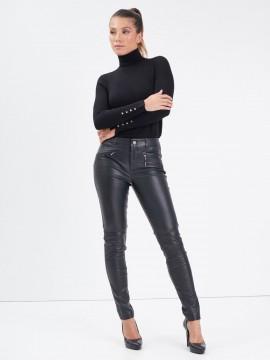 Dina - Pantalon cuir femme