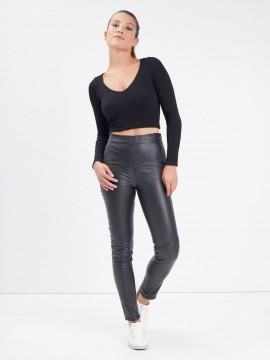 Suzana - Pantalon cuir femme