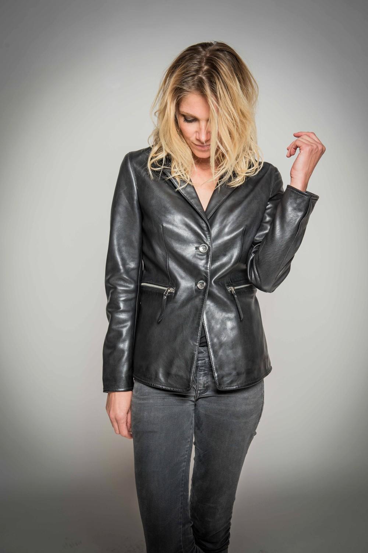 264abf6bf6851 Blazer cuir femme Mirina